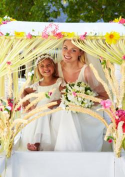 wedding canopy photo op