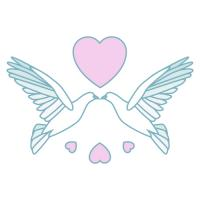 Free Wedding Doves Clipart 2