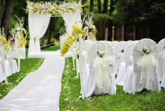 outdoor wedding chair decorations how to decorate a park for a wedding lovetoknow 6320