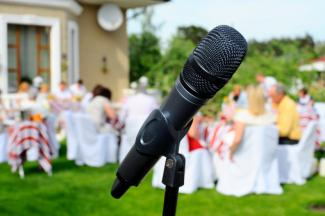 mic at wedding reception