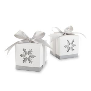 Winter Dreams Snowflake Wedding Favor Boxes