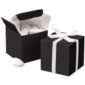 Wilton Black Square Wedding Favor Boxes