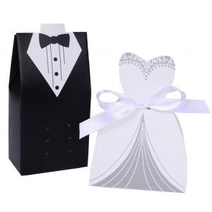 Bride Gown and Groom Tuxedo Wedding Favor Boxes