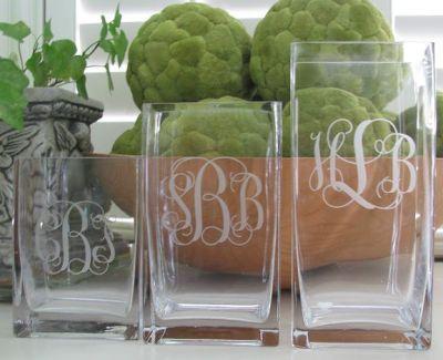 Monogramed Vases