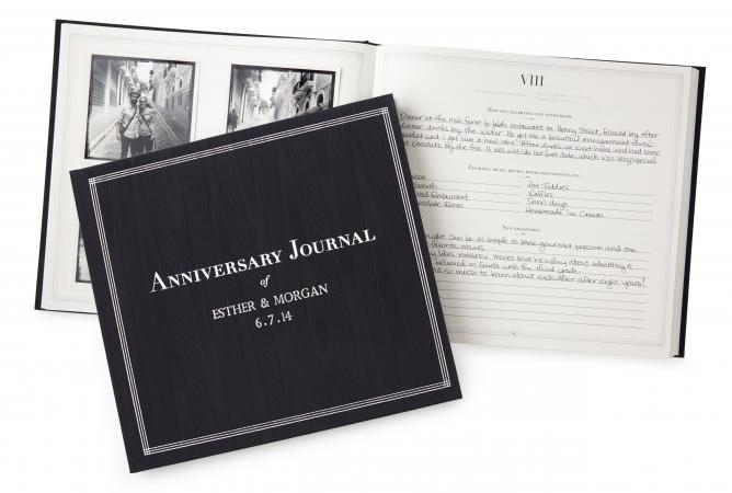 Personalized anniversary journal at uncommongoods.com