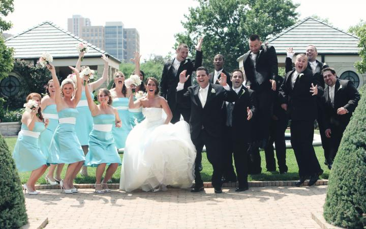 Happy bridal party