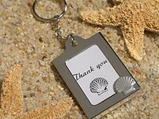 Beach Design Keychain Photo Frame