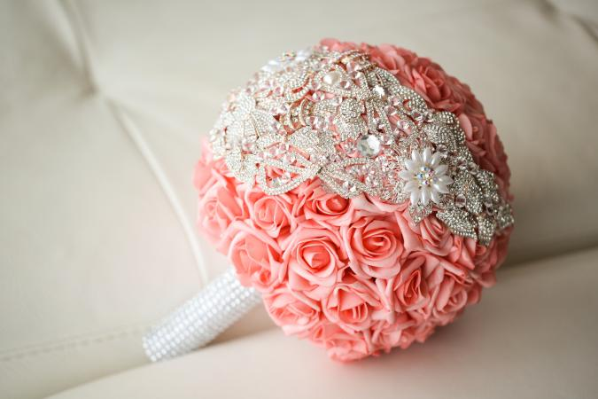 bouquet with beads