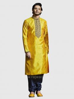 Yellow Color Printed Kurta Set