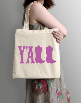 Y'all - Natural Cotton Canvas Tote Bag