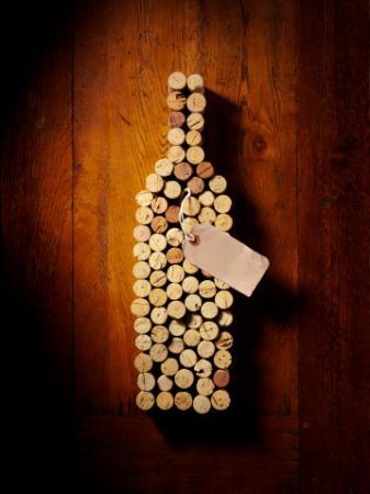 Wine Bottle in Corks