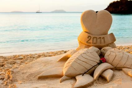Celebration of Love Sand Sculpture