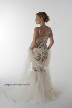 Handmade Irish Crochet Wedding Dress