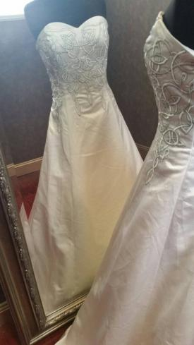 Celtic Embroidery Wedding Dress