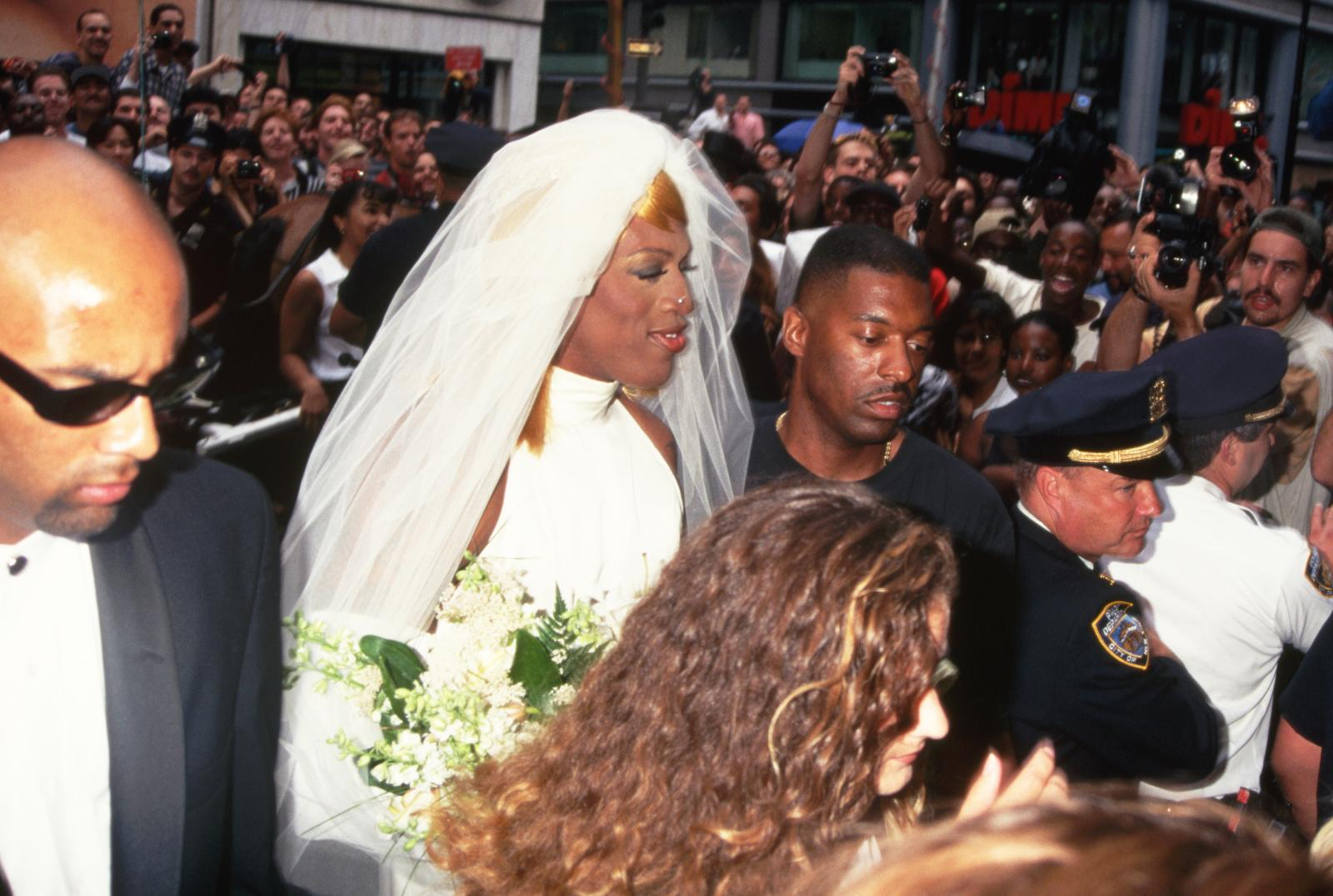 Dennis Rodman as a Bride in Rockefeller Center