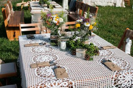 Burlap Table Decorations