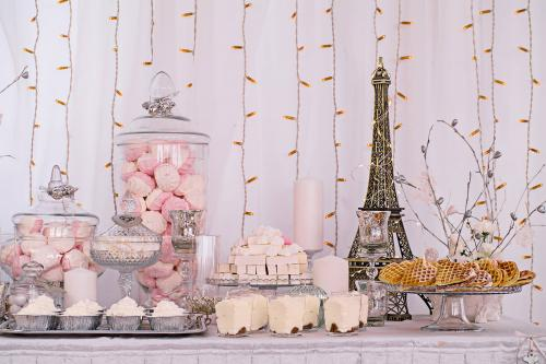 themed shower dessert table