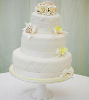 quilted bottom cake layer