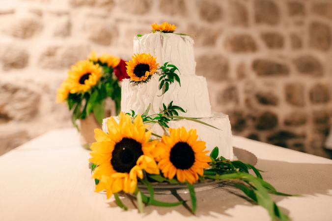 sunflower cake design