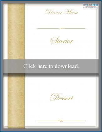 picture regarding Printable Wedding Menus named Free of charge Printable Wedding day Menu Templates LoveToKnow