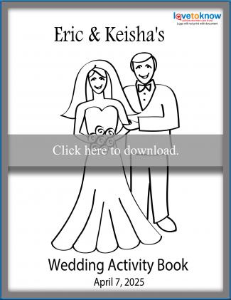 Click to print the wedding activity book.