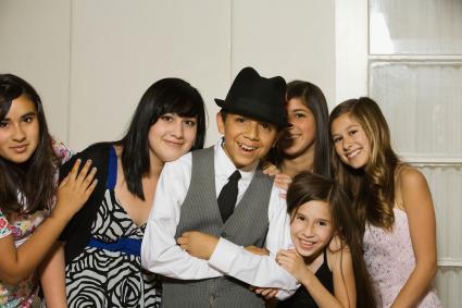 Group of children in formalwear