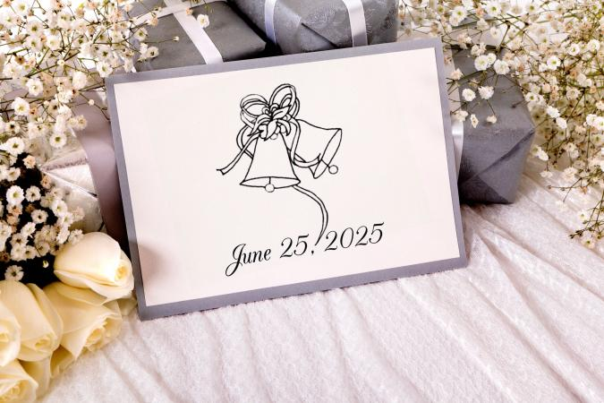 wedding bells clip art on invitation