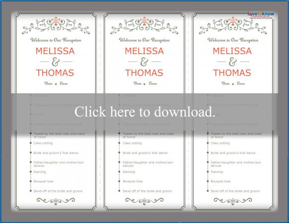 Wedding Reception Program Lovetoknow