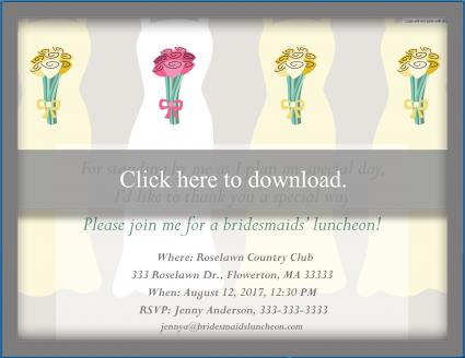 Bridesmaid luncheon invitation