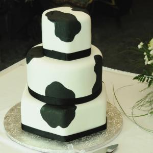 Cow Pattern Wedding Cake