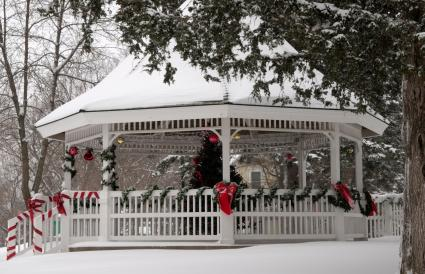 Christmas wedding gazebo