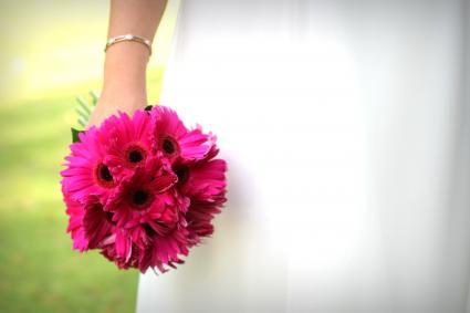 pink clutch bouquet