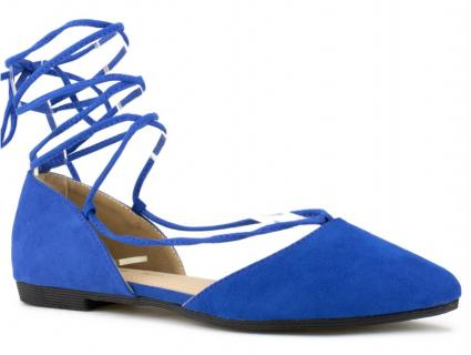 lace up blue flats