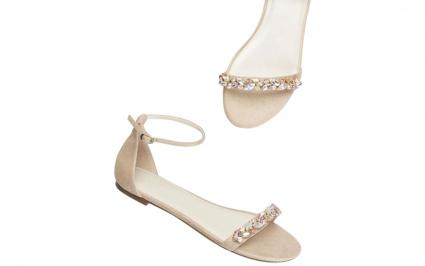 Embellished flat sandals
