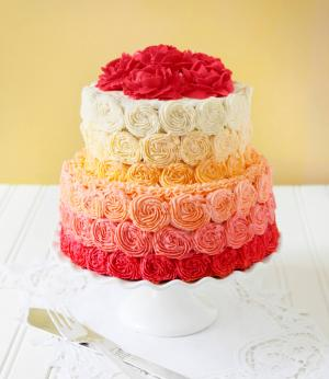 Ombre Sugar or Frosting Rose Cake