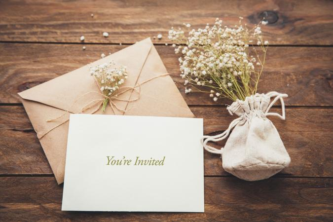informal simple wedding invitation