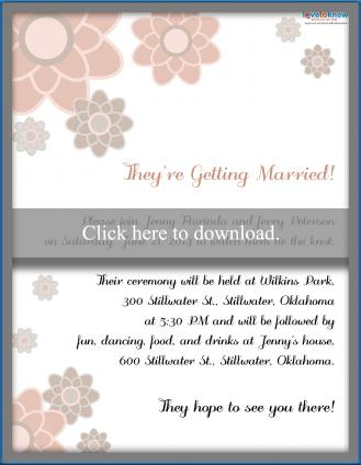 Casual Wedding Invitation Wording.Invitation Wording For A Casual Wedding Lovetoknow
