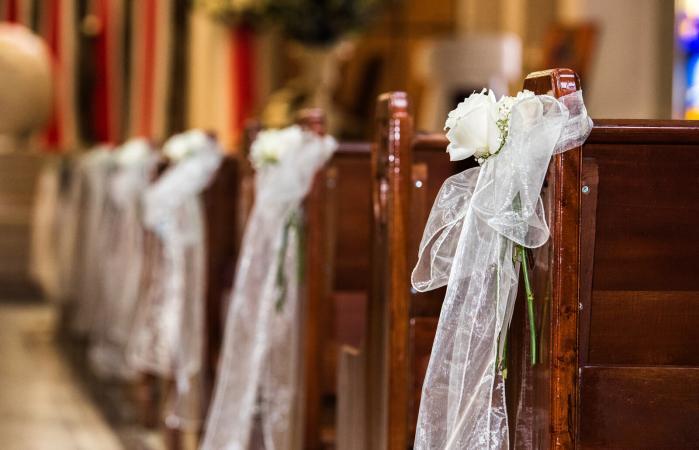Bows at a wedding