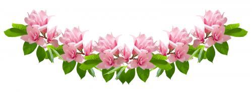 Pink magnolia flower garland