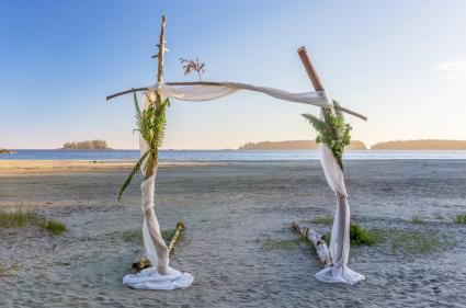 Wedding Arch on a beach
