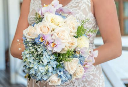 Hydrangea and other flowers wedding bouquet