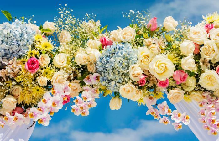 Fresh Flower Wedding Arbor