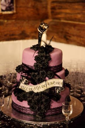 Till death do us part wedding cake
