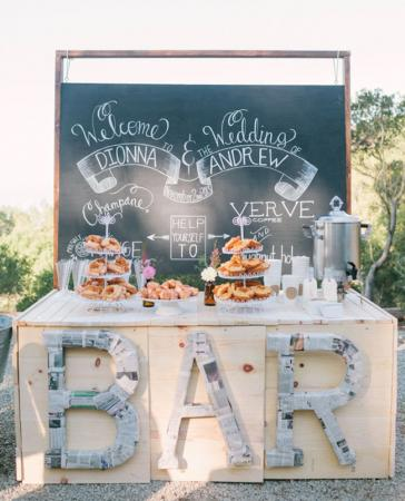 Outdoor coffee bar via Jen Campbell at greenweddingshoes.com