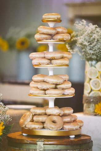 Donut tower at a wedding