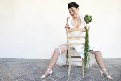 sexy bridal pose