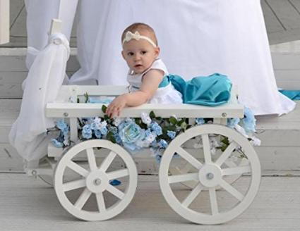 Mini Wedding Medium Flower Girl Pumpkin Gloss Wagon