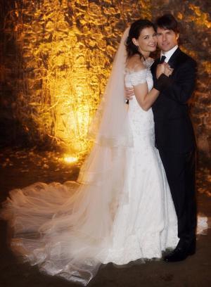 Katie Holmes in Armani wedding dress