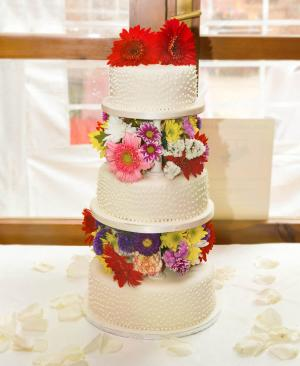 Wedding Cake three tiers with flowers