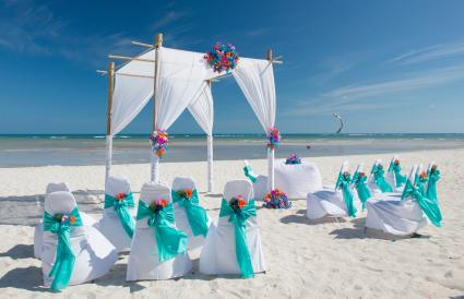 Chairs And Gazebo On Beach
